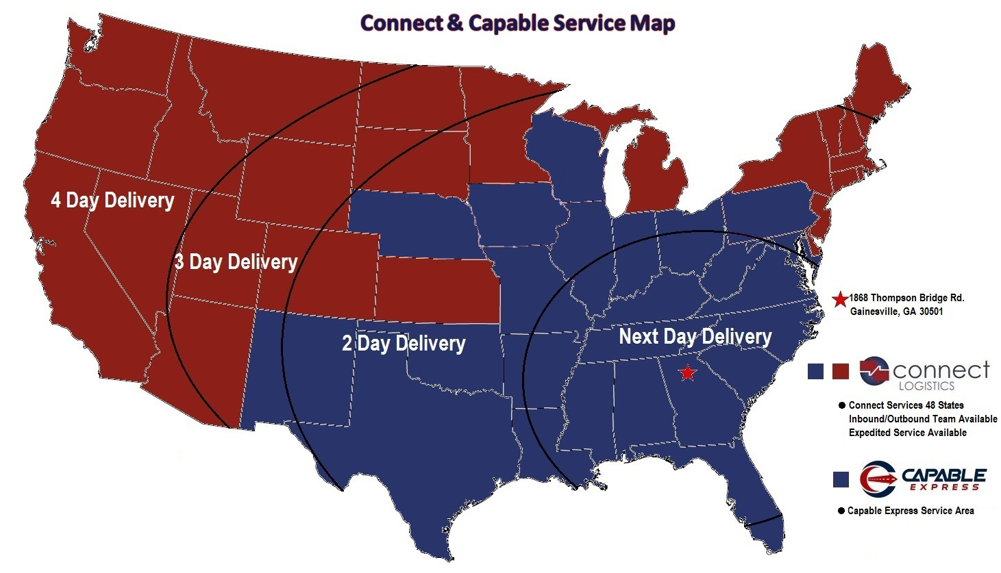 Customer Coverage Map